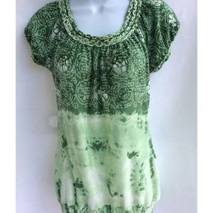 Maurices Women's Multi Color Green Top